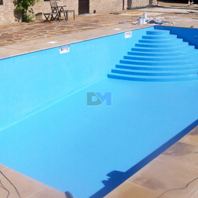 Peinture piscine caoutchouc chlor prestige satin bleu for Chlore piscine