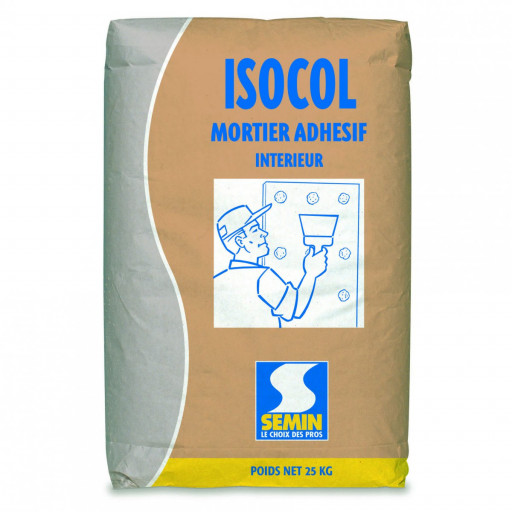 ISOCOL MORTIER ADHESIF INTERIEUR 25KG