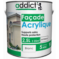 ADDICT Façade acrylique 2,5L blanc DELZ-ADD-51500712BLAN de ADDICT