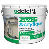 ADDICT Façade acrylique 10L blanc DELZ-ADD-51500720BLAN de ADDICT
